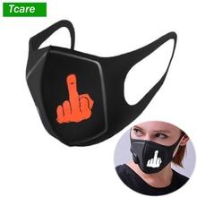 1Pcs Men Women Anti Dust Mask PM2.5 Pollution Face Mouth Respirator Black Breathable Valve Filter 3D Cover