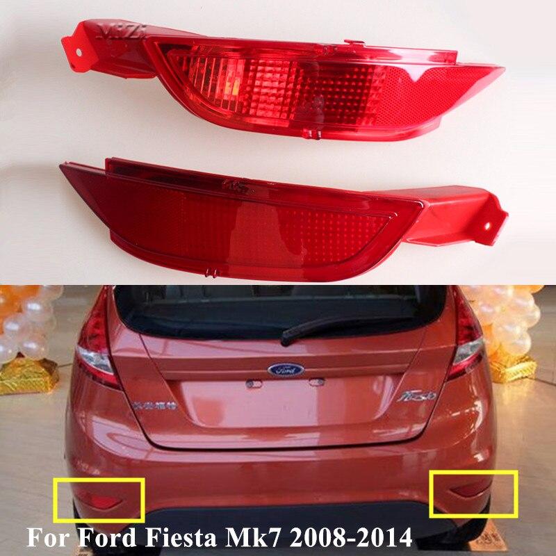 Rouge droite gauche queue pare-chocs réflecteur lampe feux de freinage arrière antibrouillard pour Ford Fiesta Mk7 2008 2009 2010 2011 2012 2013 2014