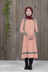 Image 3 - Muslim Long Sleeve Dress For Girl Child Kid Abaya Islamic Dubai Arabic Robe Gowns Traditional Clothing