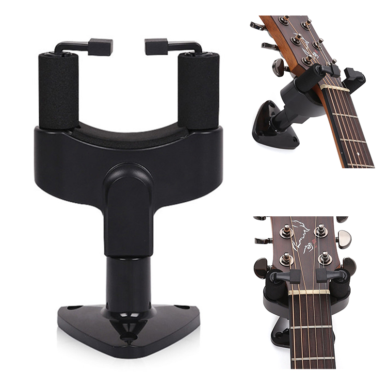 1pcs Guitar Stand Wall Hanger Support Stand Wall Mount Hook For Guitars Bass Ukulele String Instrument Accessories