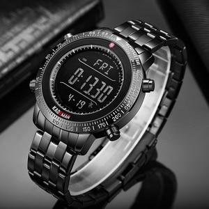 Image 2 - K849 kademan トップブランドの高級ファッションメンズスポーツ時計液晶デジタル表示の多機能アラー 3ATM ステンレス鋼