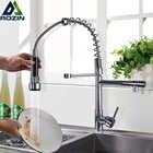 Rozin хромированный пружинный выдвижной кухонный кран с двумя выходными выходами, вращающийся на 360 градусов ручной душ, кухонный смеситель, к...