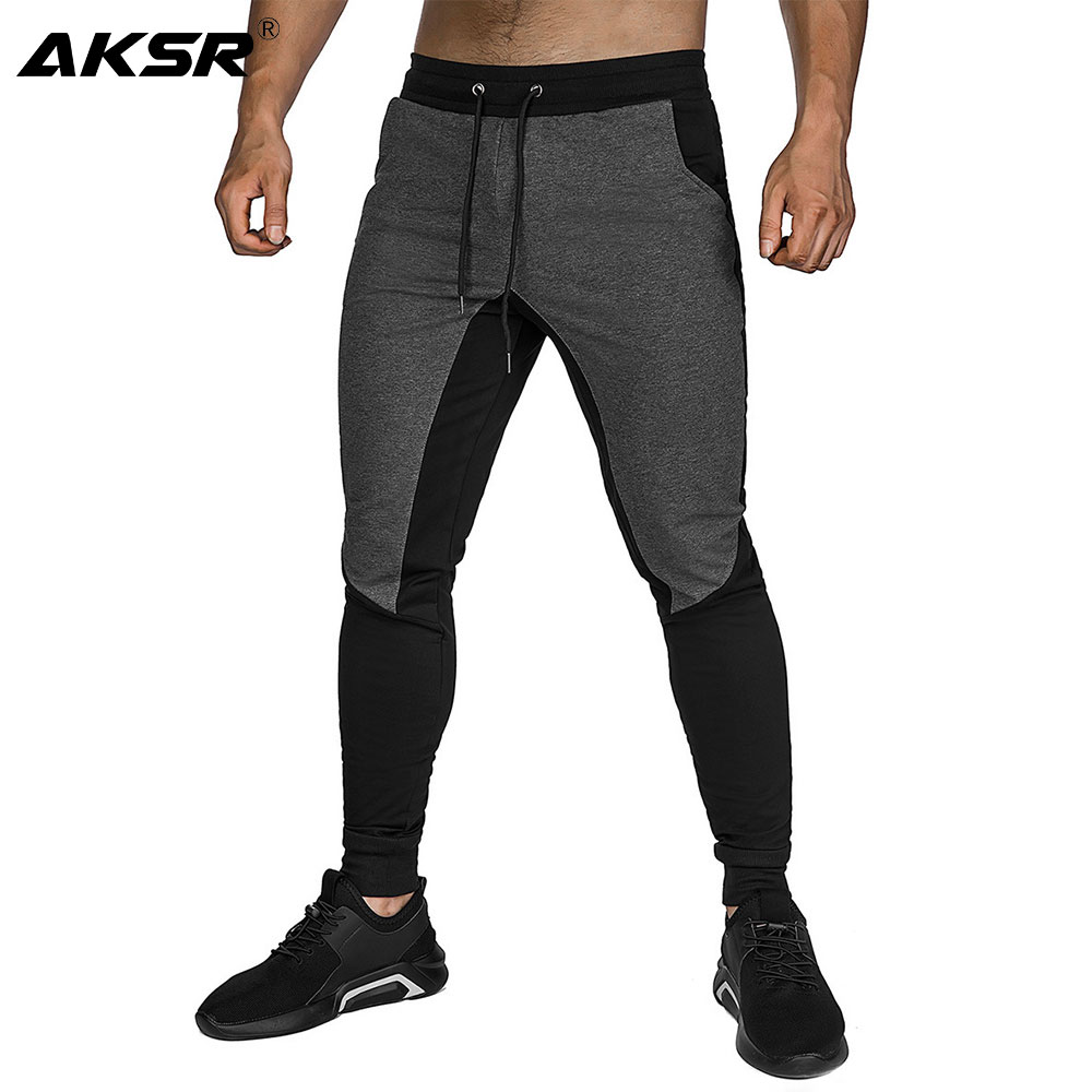 Men's Gym Jogger Pants Slim Fit Workout Running Tapered Sweatpants Athletic Skinny Fit Track Pants Trousers Men Pantalon Homme