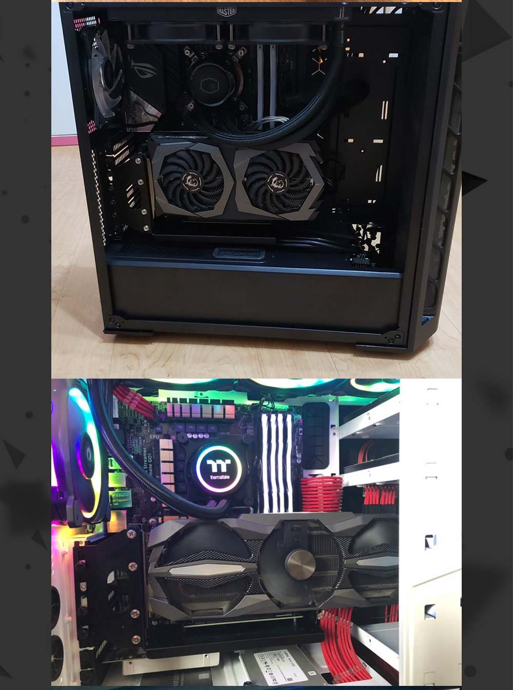 FormulaMod Fm-ZJYCX, Graphics Card Vertical Holder With Extension Cable, Fixed GPU Vertical, PCI-E Built-in Steering Bracket