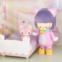Cute toys genuine KIMMY MIKI home series Blind Random box kid doll computer desktop ornaments trendy Christmas gifts