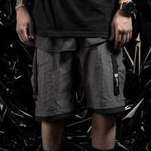 PUPIL TRAVEL  PT-1915  Techwear Men's Quick Drying Tactical Cargo Shorts Hip Hop Style Punk Fashion