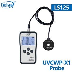 Image 1 - LinshangデジタルUVCWP X1 センサー防水UV CプローブLS125 uvパワーメータモニタ 254nm uv sterlizationための水処理