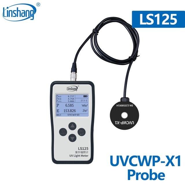 Linshang digitale UVCWP X1 sensor Wasserdichte UV C sonde für LS125 UV power meter monitor 254nm UV sterilisierung wasser behandlung