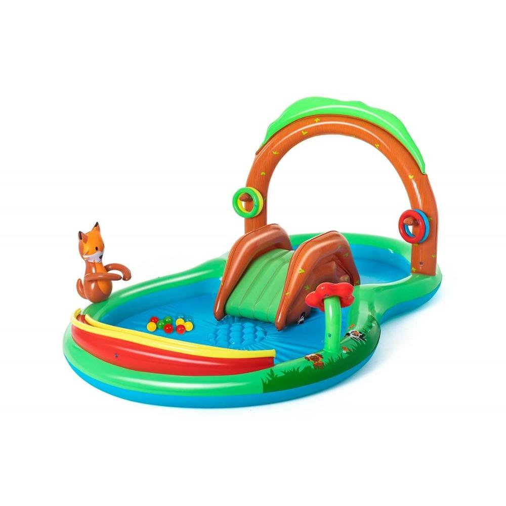Inflatable Play Center Forest Games, 295 х199х130см, 2 +, Bestway, Baby Play Pool, For Children Summer Garden Leisure, Item No. 53093