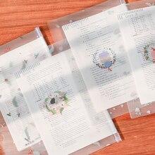 1PC A4 file folder Transparent Report cover file organizer spine bar folders pvc bag