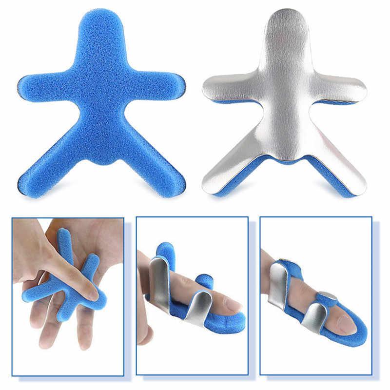 S-M-L sünger parmak sabitleme ateli ayarlanabilir parmak plastisite koruyucu kollu nefes parmak rehabilitasyon kollu mavi