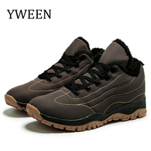 купить YWEEN Mens Snow Boots Winter Unisex Outdoors Boots Men Plush Keep Warm Casual Cotton Shoes Botas Hombre Plus Size Boots дешево