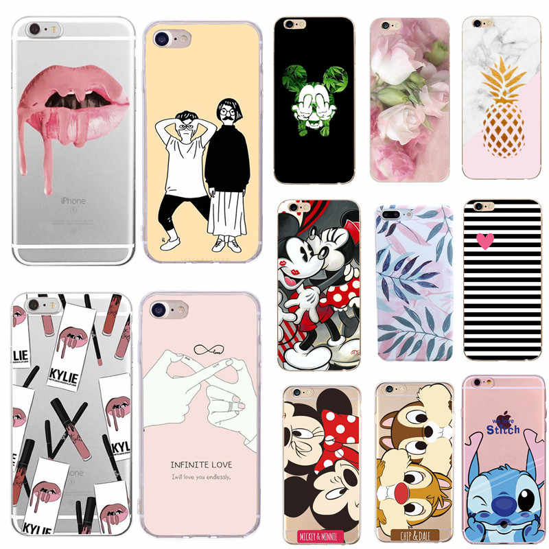 Fashion Silicon Stitch Funda Voor Iphone 7 Plus 8plus TPU Soft Phone Case Cover voor iPhone 8 7 Plus 6 6S X XS MAX SE XR 10 Cover C