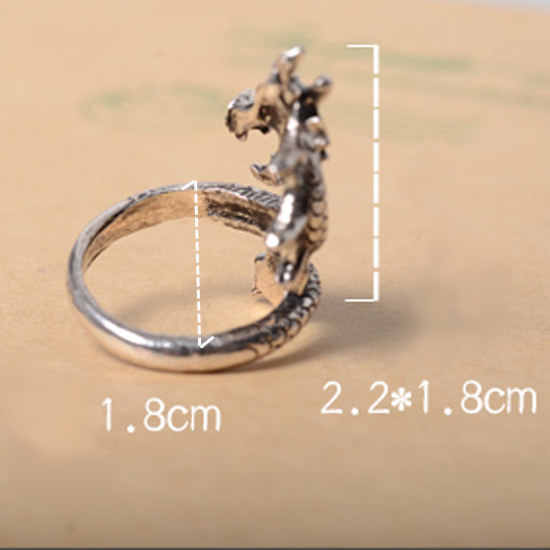 2019 New Arrival Charms Punk Fashion Exaggerated Animal Rings for Men and Women Vintage Retro Dragon Ring Jewelry Fashion Gifts