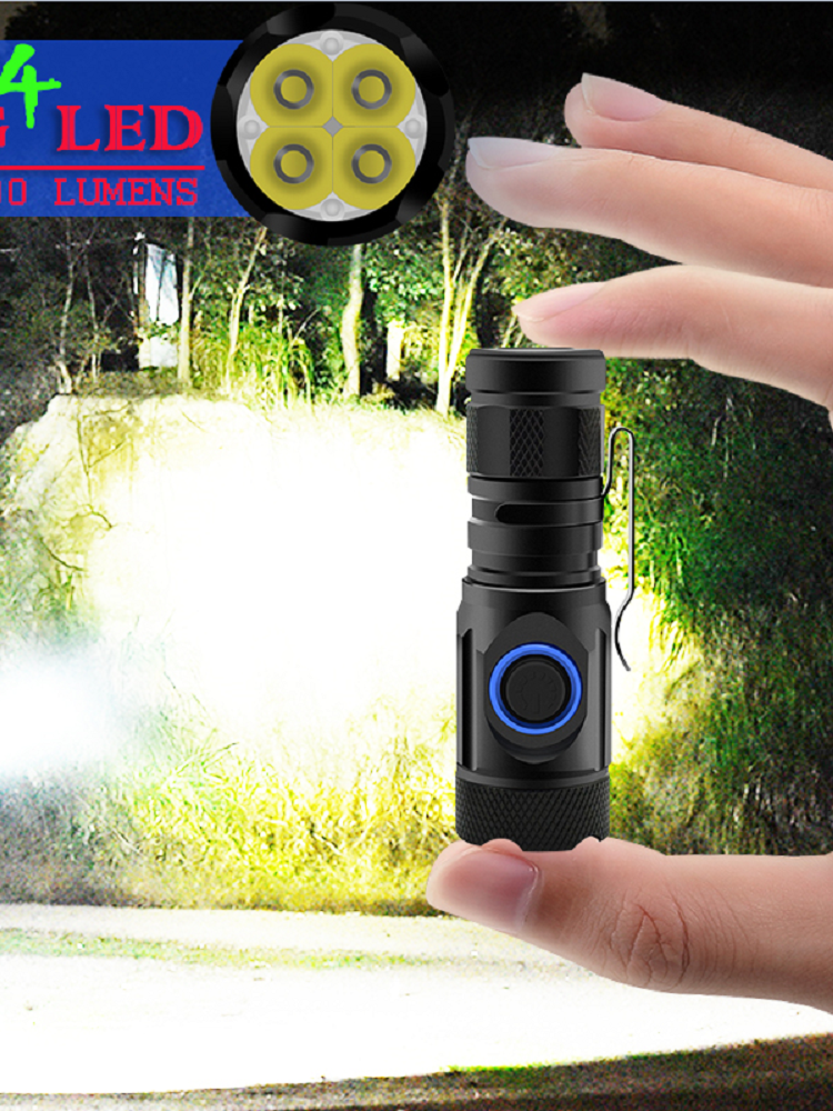 Mini Flashlight Led-Torch Most-Powerful Rechargeable Tactical Usb-Cree 10000lumen Waterproof