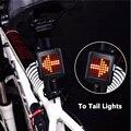 Велосипедный светильник с автоматическим интеллектуальным индикатором направления  задний фонарь с USB зарядкой для MTB велосипеда  Предупре...