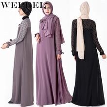 Wepbel Fahsion Muslim Outfits Long Sleeve Big Swing Turkish