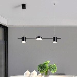 Image 2 - זהב או שחור נורדי פשוט תליון אורות חדר אוכל LED תאורת תליית גופי עבור בר שינה בית ארוך תליון מנורה
