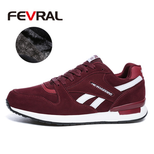 Image 2 - FEVRAL Mens Leather Sneakers Unisex Autumn Casual Trainers Breathable Outdoor Walking Shoes Light Men Winter Warm Sport Shoes