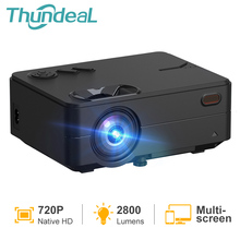 Thundeal Mini Projector RD813 Inheemse 1280X720P Draadloze Wifi Multi Screen Led Beamer Hd In Usb 3D Video home Theater Projector