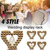 Sevgi dolu Kalp Şekli Çikolata Ahşap Ekran Standı Düğün Gelin Kalp Ağacı Düğün Ekran Standı Parti Dekorasyon