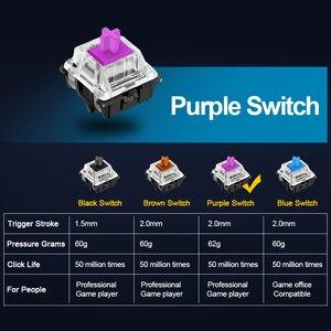 Image 2 - Redragon K550 Aluminum USB Mechanical Gaming Keyboard Rgb Red Purple Switch Diy Ergonomic Key Backlit Anti Ghosting PC Pro Gamer