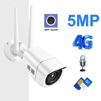 4g Sim Card Ip Camera Wireless Wifi Hd 1080p 5mp Wifi Security Camera Outdoor With P2p Onvif Two Way Audio Function