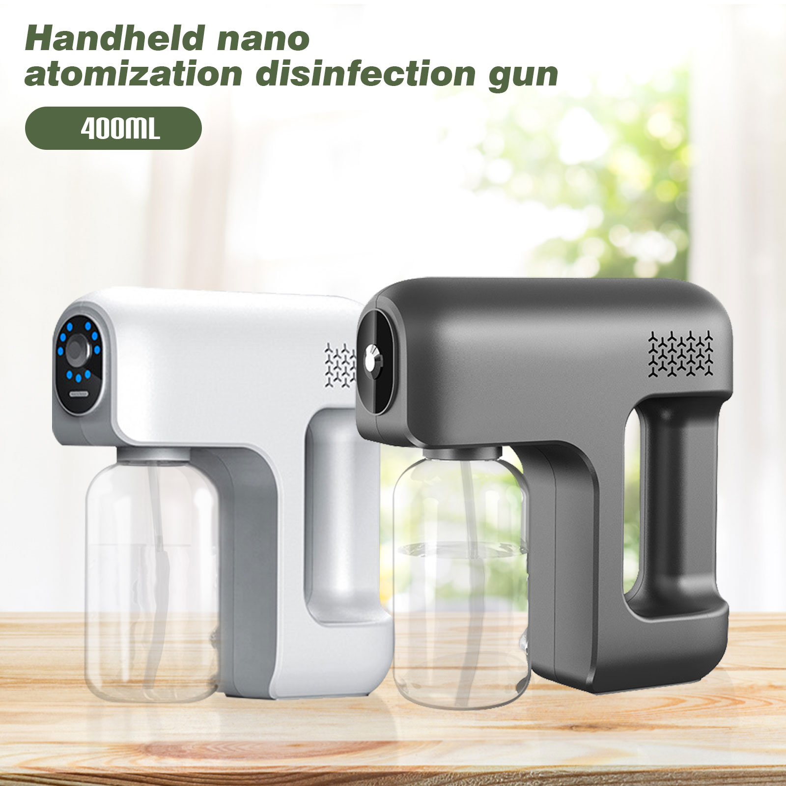 2600mAh Spray Gun Fogger Machine Portable Cordless Steam Atomizing Sprays Nano Disinfecting Sprayer Gun for Home Hotel Car