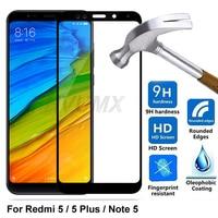 Cristal templado 9D para Xiaomi Redmi Note 5, Note 5 Pro, Protector de pantalla de cobertura completa para Redmi 5 redmi5 Plus