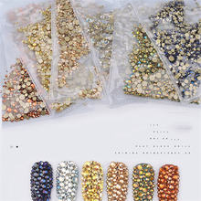 1440 шт/пакет ногтей Стразы с кристаллами блестками на плоской