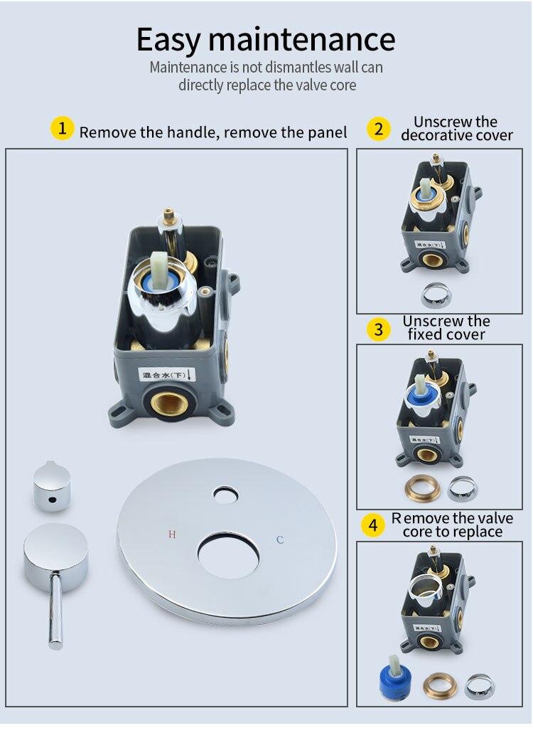 H1899b626368547f3af6d01f1168488c1r Wall Mounted Bathroom Top Sprayer Brushed Gold Shower Faucet Set