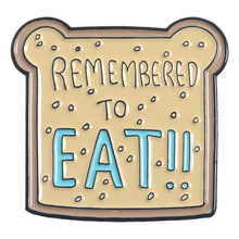 Cute Bread Toast Enamel Pins Custom Brooches Bag Clothes Lapel Pin Badges Remember to EAT Food Jewelry Gift for Kids daughter