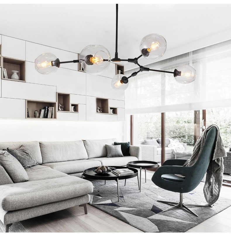 Современный стеклянный подвесной светильник, скандинавский стиль, для столовой, для кухни, дизайнерские подвесные лампы, светящееся освещение