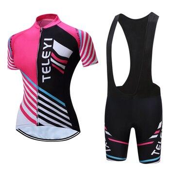 Lycra secagem rápida roupas de ciclismo das mulheres 2020 verão mountain road bike jérsei definir feminino ciclista uniforme mtb roupas de bicicleta terno 1