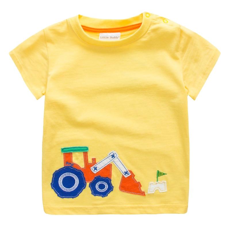 2020 Boys T shirt Kids Clothes T-shirt Summer Top Car Tshirt koszulki koszulka roupa infantil boys tshirts Cartoon Tee shirt New 1