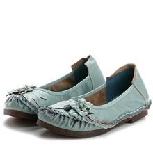 BONJEAN/Женская обувь из натуральной кожи; повседневные тонкие туфли на плоской подошве с цветочным принтом; стильные водонепроницаемые Мокасины с круглым носком; мягкая удобная женская обувь на плоской подошве; Новинка года