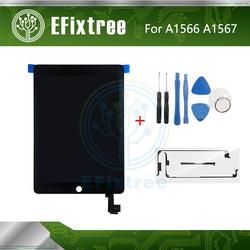 Tela lcd para ipad air 2, montagem para ipad air 2, touch screen, digitalizador, ferramenta de montagem, preto e branco