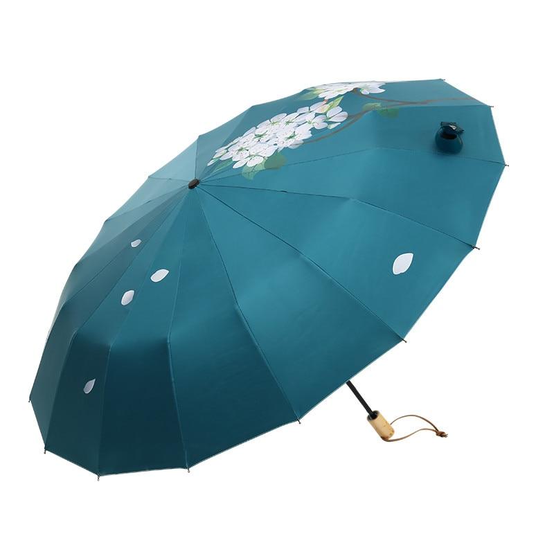16 osso Forte Ombrello Pera Fiore Caduta Donne Accessori e articoli per pioggia di Protezione Parapluie Guarda Chuva Parasole Paraguas Regalo Di Natale - 6
