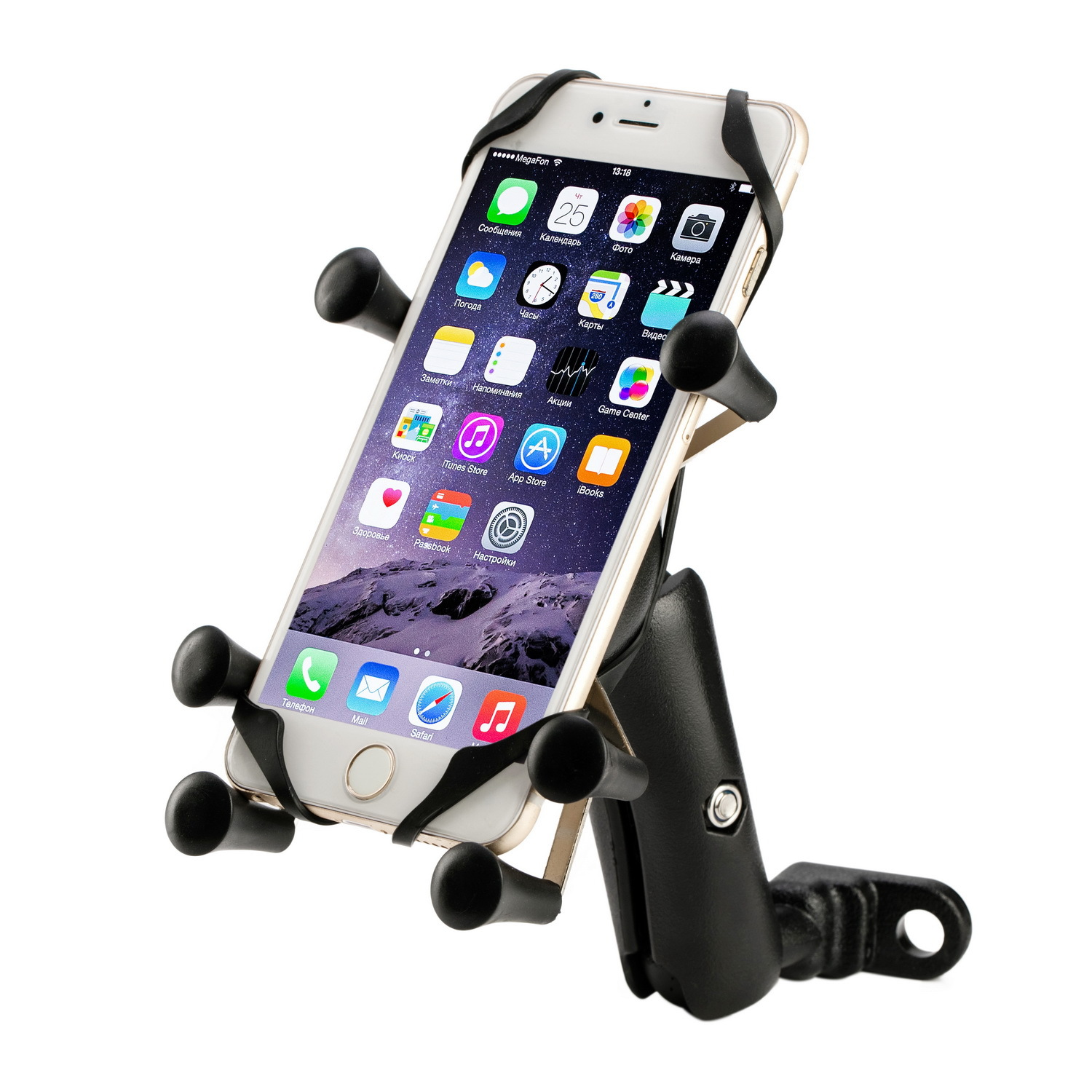 Motorcycle Mobile Phone Bracket E-Bike Mobile Phone Bracket Six-claw Mobile Phone Bracket Shatter-resistant Shock-resistant Car