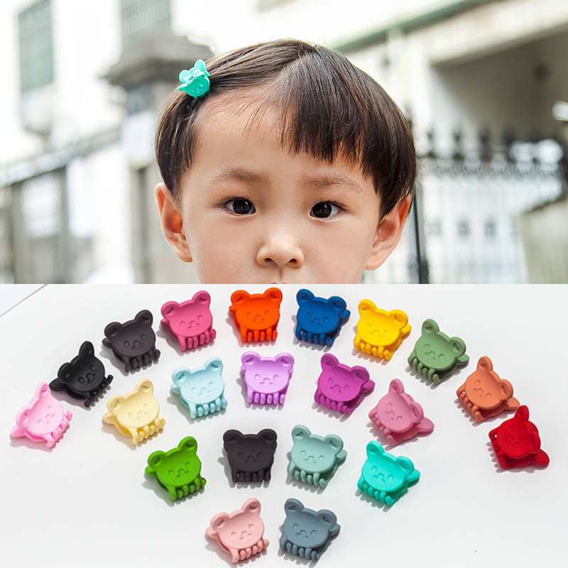 10pcs new cute children 39 s hairpins scrub mini flowers cartoon clip color random fashion hair accessories in Hair Jewelry from Jewelry amp Accessories
