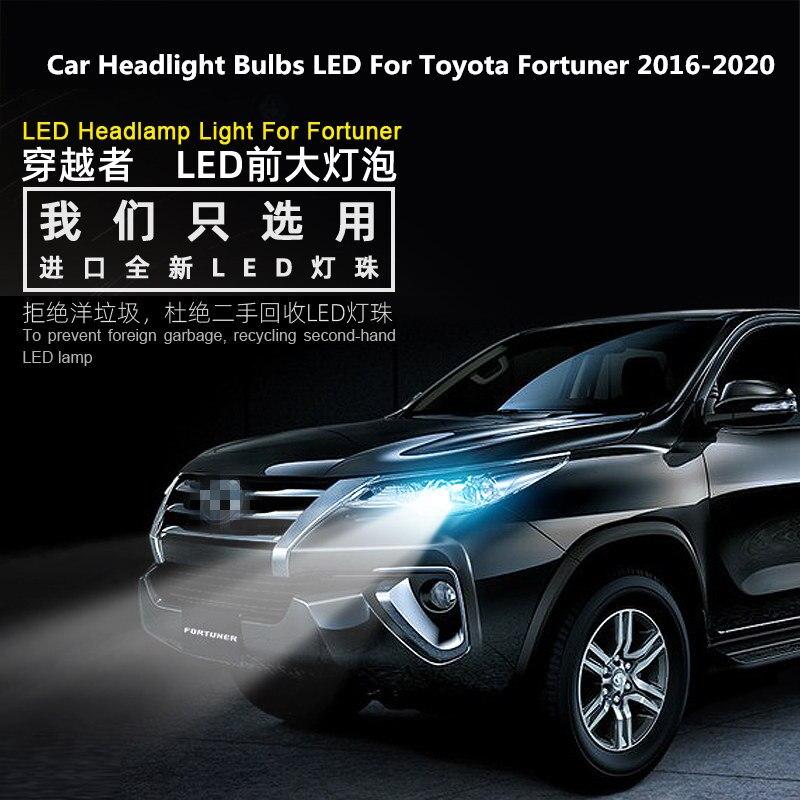 Car Headlight Bulbs LED For Toyota Fortuner 2016-2020 12V 90W 6000K 360 Degree Prado lights modified LED