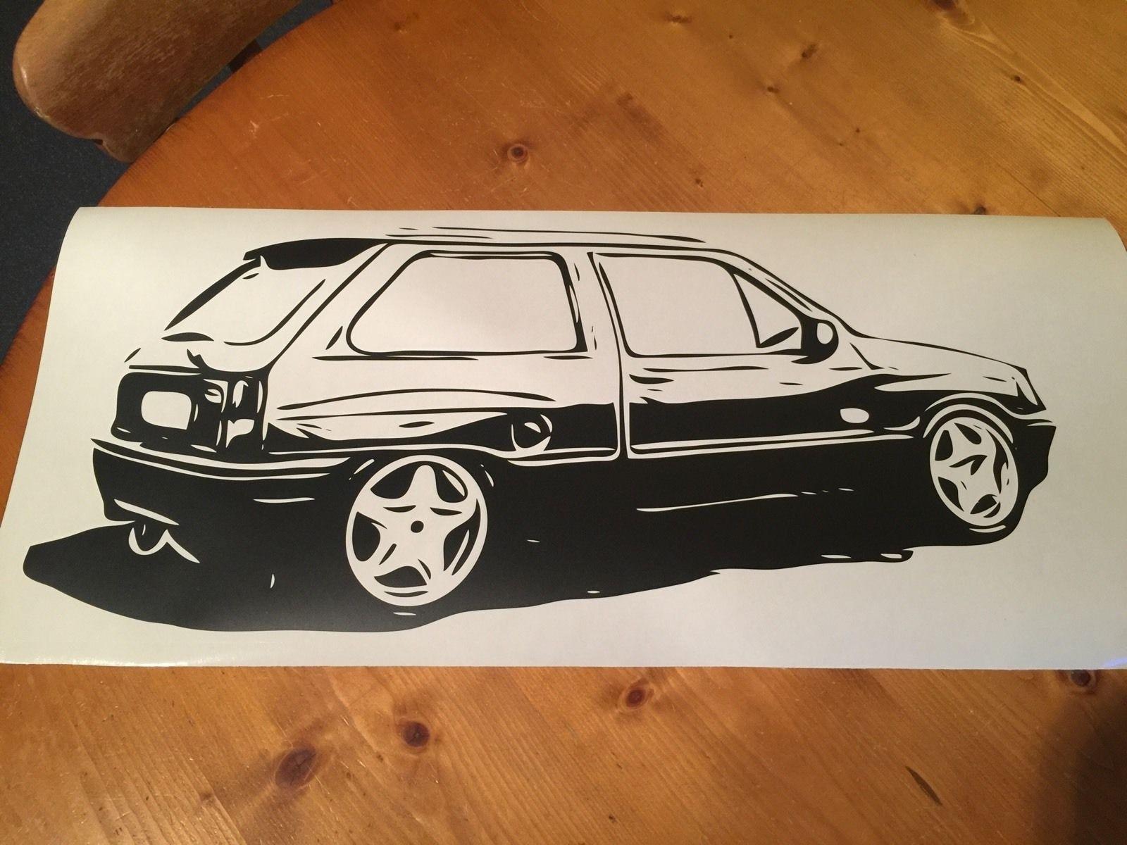 Наклейка для Vauxhall Nova GTE SR Corsa Opel в стиле ретро, различные размеры