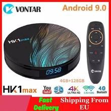 Vontar 스마트 TV 박스 안드로이드 9.0 4GB RAM 128GB ROM RK3318 HK1MAX 4K 미디어 플레이어 구글 어시스턴트 미니 셋톱 박스 HK1 MAX 1G/8G