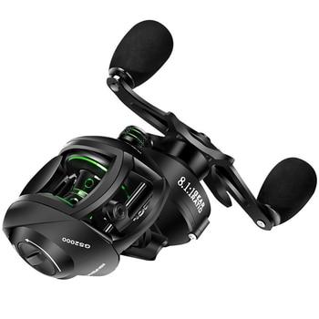 2000 Series Baitcasting Reel High Speed 8:1:1 Gear Ratio 17+1BB Fresh/Saltwater Magnetic Brake System Ultralight Fishing Reel