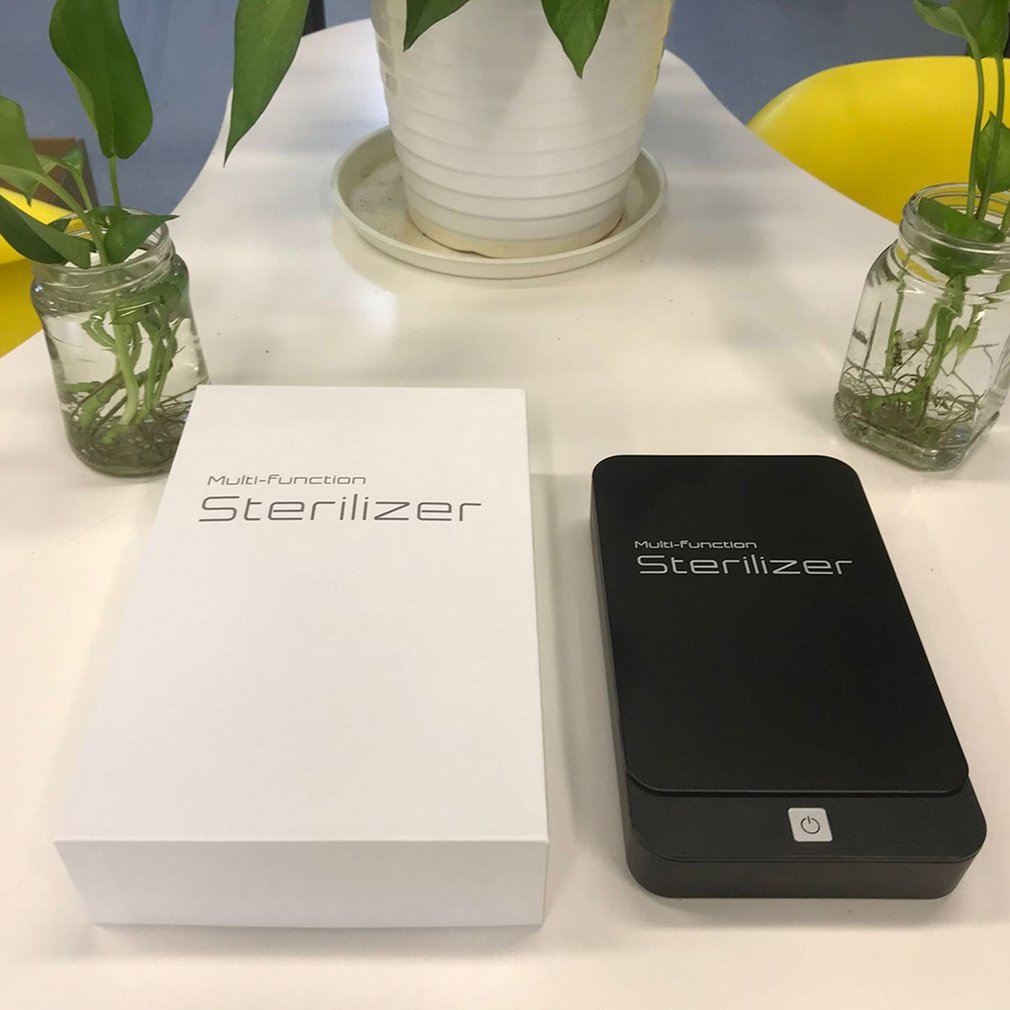 5V UV Phone Sterilizer Box Mask Phones Cleaner Personal Disinfection Cabinet With Aromatherapy Esterilizador Wireless Charging
