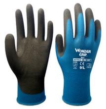 6 pairs Blue Nylon Spandex Micro Foam Nitrile Maxi High Flex Grip Abrasion Resistant Women Safety Gardening Work Gloves