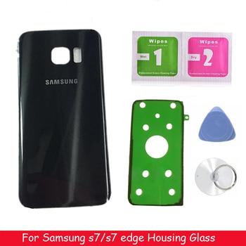 Original For SAMSUNG Galaxy S7 G930 SM-G930F S7 Edge G935 G935F Back Glass Battery Cover Rear Door Housing Case Back Glass Cover for samsung galaxy note 8 n950 n950f n9500 back cover glass battery case rear door housing case back glass cover