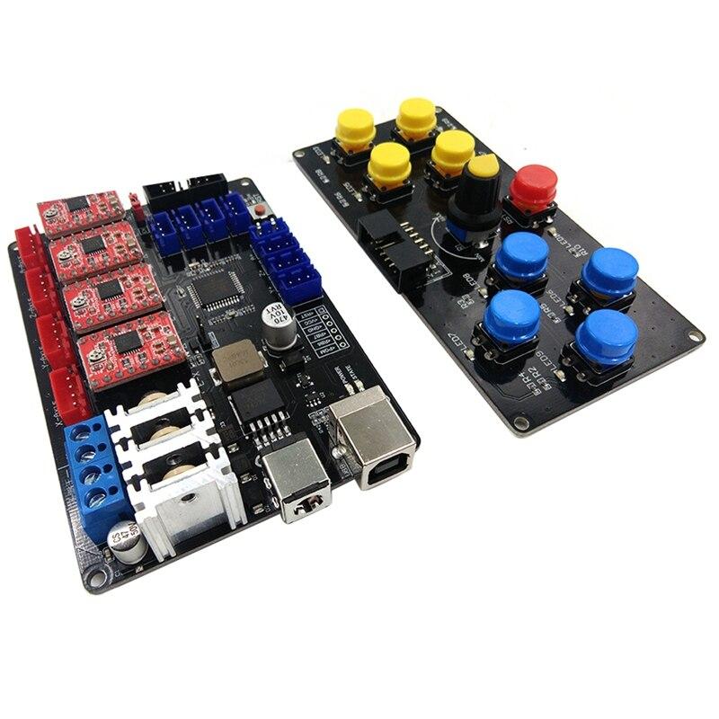 Лучший Diy ЧПУ Usb контроллер 4 оси гравер машина панель управления гравировальный станок аксессуар материнская плата