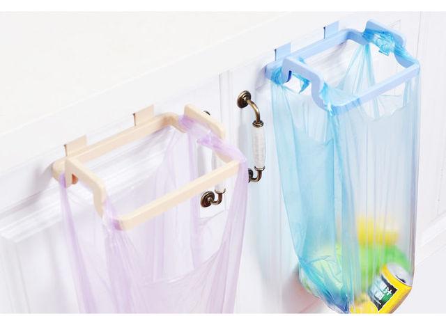 Support plastique de cuisine Portable | Porte-poubelle de porte, sac de poubelle, support de canette suspendu, accessoires dorganisation pour la maison