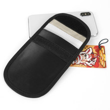 Car Key Signal Blocker Case Fob Pouch Keyless RFID Blocking Bag Car Key Anti-theft Bag Radiation Protection(China)
